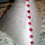 Pillow - Tetrahedron with Glass Buttons