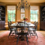 Flat Roman Shades with Shaped Bottom -- Melinda Gray Interiors