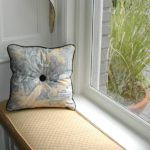 Small Window Seat and Pillow with Button