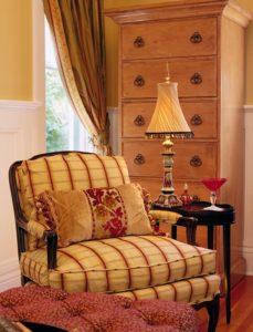 Drapes and Pillow -- Melinda Gray Interiors