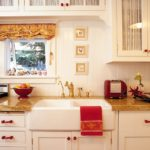 Soft Roman Shade and Gathered Cabinet Inserts -- Melinda Gray Interiors