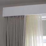 Painted Box Cornice with Drapes and Sheers