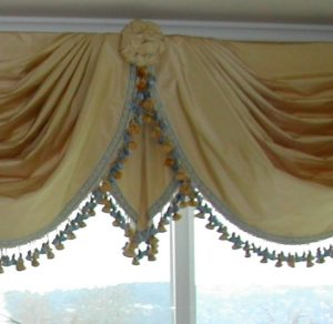 Pleated Jabot with Trim and Rosette